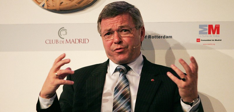 Former Prime Minister of Norway Kjell Magne Bondevik talks during a conference on November 14, 2008 in Rotterdam. A global forum on leadership for shared societies, with 70 heads of State and government from 50 countries, gathered from November 12 till 14, 2008 to discuss how world can manage ethnic, cultural and religious identity differences. AFP PHOTO/Anoek DE GROOT (Photo credit should read ANOEK DE GROOT/AFP/Getty Images)