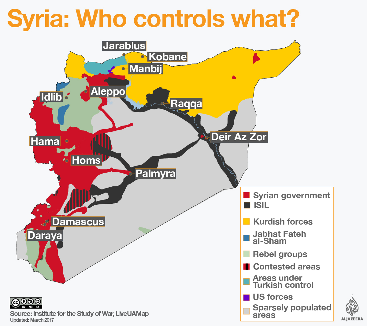 Syrian Territory Map Can Trump End the War in Syria? – Foreign Policy