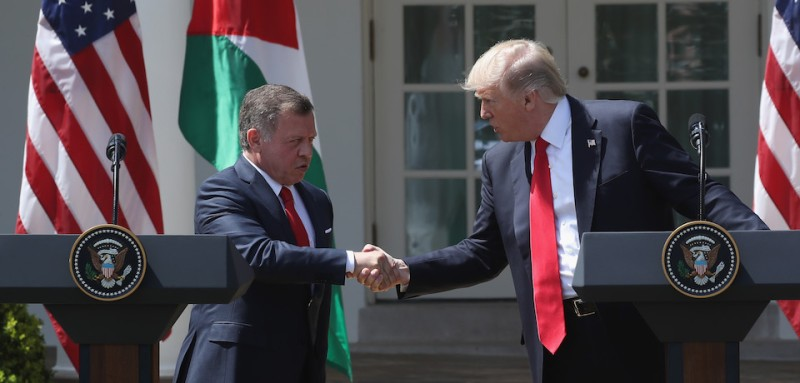 Did Trump get played by the king of Jordan like someone new