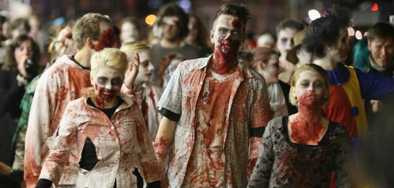 zombies living dead walking