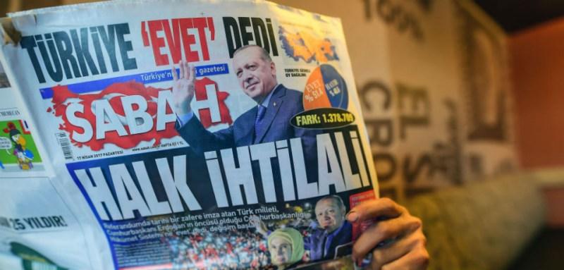 erdogan on newspaper