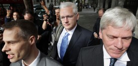 Wikileaks website founder Julian Assange arrives at The High Court on July 12, 2011 in London, England. Mr Assange is appealing against his extradition to Sweden over sexual assault allegations.