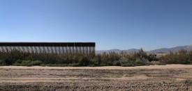 FORT HANCOCK, TX - OCTOBER 14:  The U.S.-Mexico border fence stops while passing through farmland on October 14, 2016 near Fort Hancock, Texas. Throughout vast stretches of West Texas, the fence starts and stops along the bank of the Rio Grande, which is often nearly drained due to irrigation for crops. (Photo by John Moore/Getty Images)