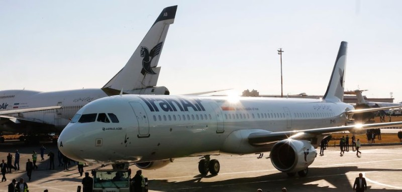 An Airbus A321 airliner arrives at the Mehrabad international airport during the delivery of the first batch of planes to the Iranian state airline Iran Air in the  capital Tehran on Jaunary 12, 2017. The aircraft arrived as part of an order for 100 other Airbus planes with a list price of around $20 billion (19 billion euros) on December 22, placed after the lifting of international sanctions on the Islamic republic. It will be used for internal flights landed at Tehran's Mehrabad airport. / AFP / ATTA KENARE        (Photo credit should read ATTA KENARE/AFP/Getty Images)