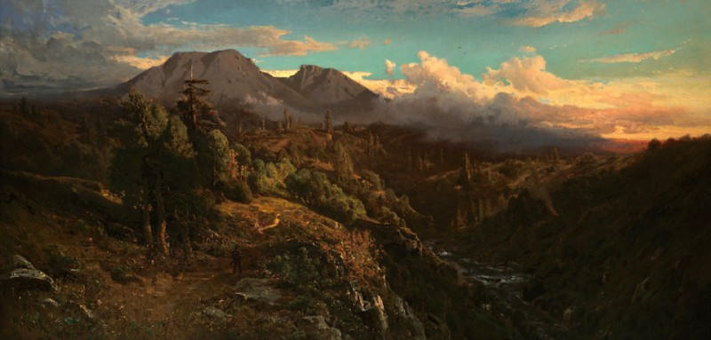 Sunset_Glow_on_Mt_Tamalpais_by_William_Keith,_1896
