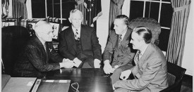 748px-L_to_R,_President_Truman,_George_C._Marshall,_Paul_Hoffman,_and_Averell_Harriman_in_the_oval_office_discussing_the..._-_NARA_-_200035