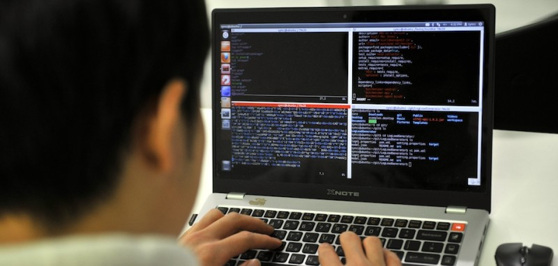 "TO GO WITH ""SKorea-NKorea-IT-security,FOCUS"" by Lim Chang-Won This photo taken on February 14, 2013 shows a young computer expert studying at an internet security training centre of the state-run Korea Information Technology Research Institute (KITRI) in Seoul. The training programme was launched to reflect growing official concern about South Korea's vulnerability to cyber attack in the wake of two major intrusions in 2009 and 2011 blamed on North Korea.   AFP PHOTO / JUNG YEON-JE        (Photo credit should read JUNG YEON-JE/AFP/Getty Images)"