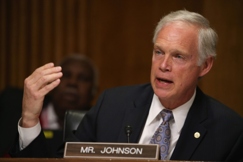 WASHINGTON, DC - MARCH 10:  Sen. Ron Johnson (R-WI) participates in a Senate Foreign relations Committee hearing on Capitol Hill, March 10, 2015 in Washington, DC. The committee was hearing from us government officials on the situation in Ukraine.  (Photo by Mark Wilson/Getty Images)