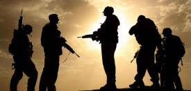 Lashkar Gah, AFGHANISTAN:  (FILES) In this file photograph dated 17 May 2006, British soldiers from 21 Air Assault Battery Royal Artillery, who are providing the Helmand Task Force Provincial Reconstruction Team, are silhouetted against the sky as they provide security for a meeting with the Afghan National Police at the fortress Qala-e-Bost in Lashkar Gah, Helmand province.  Two British soldiers serving in the NATO force in southern Afghanistan were killed 01 August 2006 while another was seriously wounded and a fourth reported missing, presumed killed, the ministry of defense in Britain said.   AFP PHOTO/ JOHN D MCHUGH  (Photo credit should read JOHN D MCHUGH/AFP/Getty Images)
