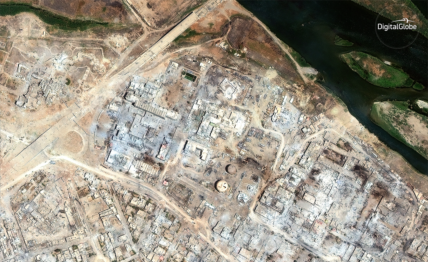 Mosul, Before and After, in Satellite Images
