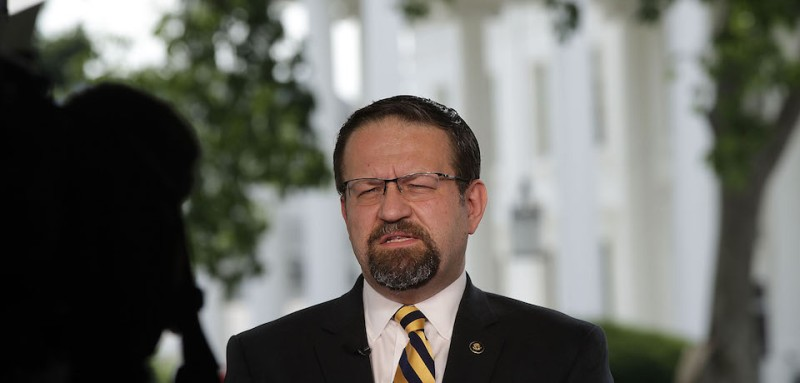 WASHINGTON, DC - JUNE 22:  White House Deputy Assistant To The President Sebastian Gorka speaks as he is interviewed by Fox News remotely from the White House June 22, 2017 in Washington, DC. Gorka discussed American Otto Warmbier's death after his return from North Korean detention.  (Photo by Alex Wong/Getty Images)