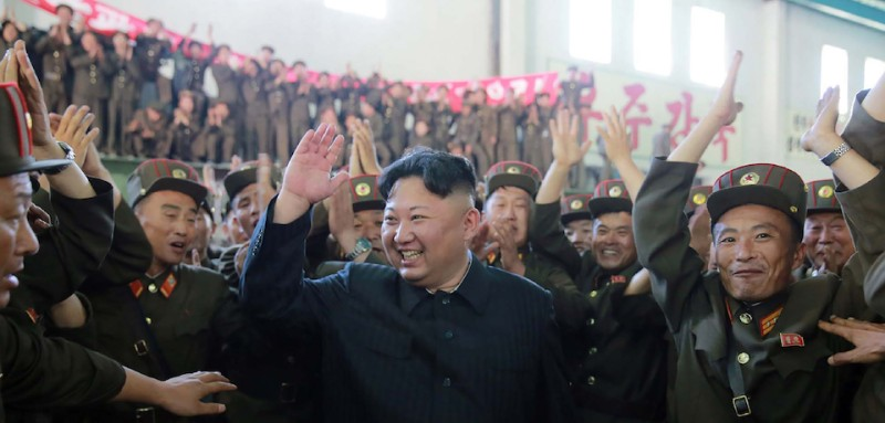 "This picture taken on July 4, 2017 and released from North Korea's official Korean Central News Agency (KCNA) on July 5, 2017 shows North Korean leader Kim Jong-Un (C) celebrating the successful test-fire of the intercontinental ballistic missile Hwasong-14 at an undisclosed location. South Korea and the United States fired off missiles on July 5 simulating a precision strike against North Korea's leadership, in response to a landmark ICBM test described by Kim Jong-Un as a gift to ""American bastards"". / AFP PHOTO / KCNA VIA KNS / STR / South Korea OUT / REPUBLIC OF KOREA OUT   ---EDITORS NOTE--- RESTRICTED TO EDITORIAL USE - MANDATORY CREDIT ""AFP PHOTO/KCNA VIA KNS"" - NO MARKETING NO ADVERTISING CAMPAIGNS - DISTRIBUTED AS A SERVICE TO CLIENTS THIS PICTURE WAS MADE AVAILABLE BY A THIRD PARTY. AFP CAN NOT INDEPENDENTLY VERIFY THE AUTHENTICITY, LOCATION, DATE AND CONTENT OF THIS IMAGE. THIS PHOTO IS DISTRIBUTED EXACTLY AS RECEIVED BY AFP.    /         (Photo credit should read STR/AFP/Getty Images)"