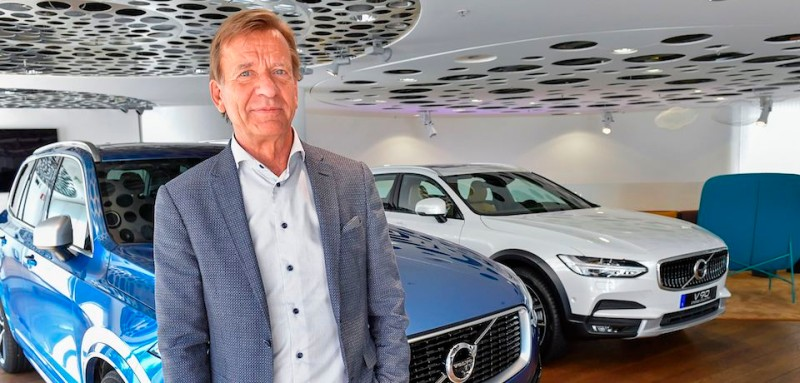 Volvo Cars CEO Hakan Samuelsson poses for photographer after an interview at Volvo Cars Showroom in Stockholm, Sweden, on July 05, 2017.   Samuelsson said that all Volvo cars will be electric or hybrid within two years. The Chinese-owned automotive group plans to phase out the conventional car engine. / AFP PHOTO / TT NEWS AGENCY AND TT News Agency / Jonas EKSTROMER / Sweden OUT        (Photo credit should read JONAS EKSTROMER/AFP/Getty Images)
