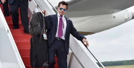 Anthony Scaramucci White House communcations director arrives at Long Island MacArthur Airport with US President Donald Trump to deliver remarks on law enforcement at Suffolk Community College in Ronkonkoma, New York July 28, 2017. / AFP PHOTO / Nicholas Kamm        (Photo credit should read NICHOLAS KAMM/AFP/Getty Images)