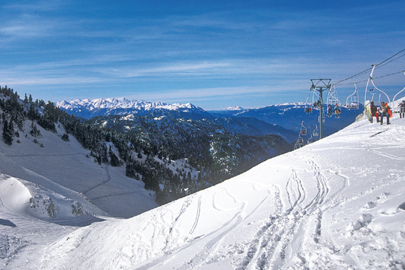 In winter, Greece is ideal for winter sports