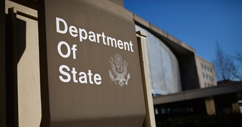 WASHINGTON, DC - JANUARY 26:  The U.S. State Department is shown January 26, 2017 in Washington, DC. Four senior management team members at the State Department resigned January 25, adding to an exodus of career senior foreign service officers who have recently resigned their positions.  (Photo by Win McNamee/Getty Images)