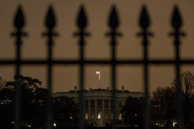 The south side of the White House is seen January 26, 2015 in Washington, DC.  A small aerial drone was found on the grounds of the White House but poses no threat, a spokesman for President Obama said on Monday. Josh Earnest, the White House press secretary, said he did not have details about the size or type of the drone, but he said the Secret Service was investigating. AFP PHOTO/BRENDAN SMIALOWSKI        (Photo credit should read BRENDAN SMIALOWSKI/AFP/Getty Images)