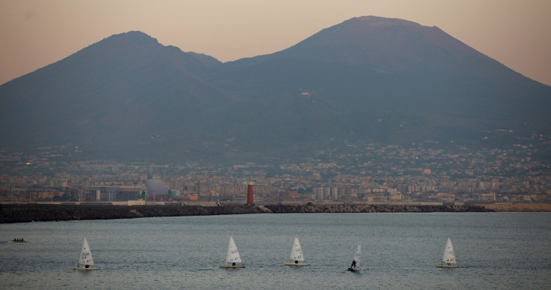 on November 17, 2011 in Naples, Italy. Naples is famed for it's narrows streets, pizza and Unesco protected buildings and Mount Vesuvius.