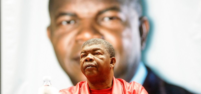 People's Movement for the Liberation of Angola (MPLA) presidential candidate and Angolan Defense Minister Joao Lourenco looks on during a meeting between MPLA leadership and sporting entities, associations and managers during his presidential elections campaign on August 10, 2017 in Luanda. / AFP PHOTO / AMPE ROGERIO        (Photo credit should read AMPE ROGERIO/AFP/Getty Images)