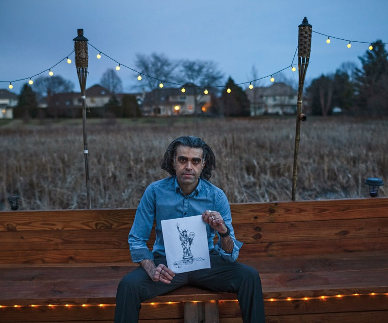 Kaveh Adel was born in Ahvaz and raised in Tehran. He is a dentist, cartoonist, author, coach and speaker who emigrated to the USA in 1986 at the height of Iran-Iraq war fleeing political persecution in Iran.  Currently he lives and practices in Illinois where he is writing an autobiographical graphic novel.