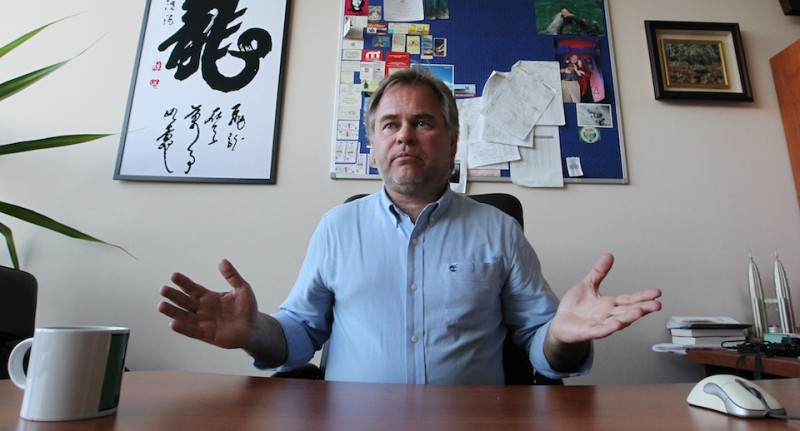 (FILES) A photo taken on March 10, 2011 of Russian anti-virus program developer and CEO of Moscow-based Kaspersky Lab, Yevgeny Kaspersky giving an interview to AFP at his company's offices in Moscow. The son of Russian software tycoon Eugene Kaspersky has been kidnapped in Moscow and his abductors are demanding a 3 million euro ($4.4 million) ransom for his release, reports said on April 21, 2011. The Lifenews.ru news website said that unknown men abducted Ivan Kaspersky, 20, on Tuesday morning and then made the ransom demand to his father by phone.AFP PHOTO / ALEXEY SAZONOV (Photo credit should read Alexey SAZONOV/AFP/Getty Images)