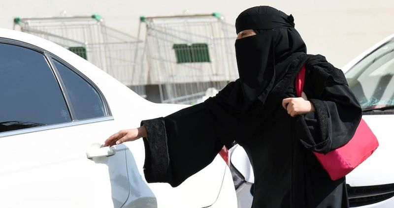 A Saudi woman gets into a taxi at a mall in Riyadh as a grassroots campaign planned to call for an end to the driving ban for women in Saudi Arabia on October 26, 2014. Amnesty International is calling on the Saudi Arabian authorities to respect the right of women to defy the ban by driving this weekend and to end the harassment of supporters of the campaign.    AFP PHOTO/FAYEZ NURELDINE        (Photo credit should read FAYEZ NURELDINE/AFP/Getty Images)