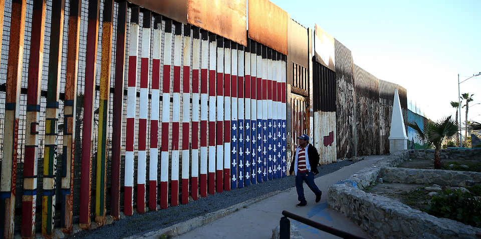 TIJUANA, MEXICO - JANUARY 27:  A view of the US-Mexican border fence at Playas de Tijuana on January 27, 2017 in Tijuana, Mexico. U.S. President Donald Trump announced a proposal to impose a 20 percent tax on all imported goods from Mexico to pay for the border wall between the United States and Mexico. Mexican President Enrique Pena Nieto canceled a planned meeting with President Trump over who would pay for Trump's campaign promise to build a border wall.  (Photo by Justin Sullivan/Getty Images)