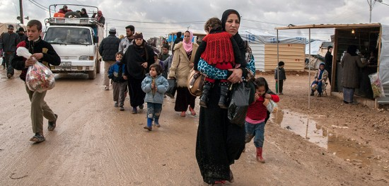 Syrian refugees at the Zaatari refugee camp on the Jordanian border on May 31. (Photo Alvaro Fuente/NurPhoto via Getty Images)