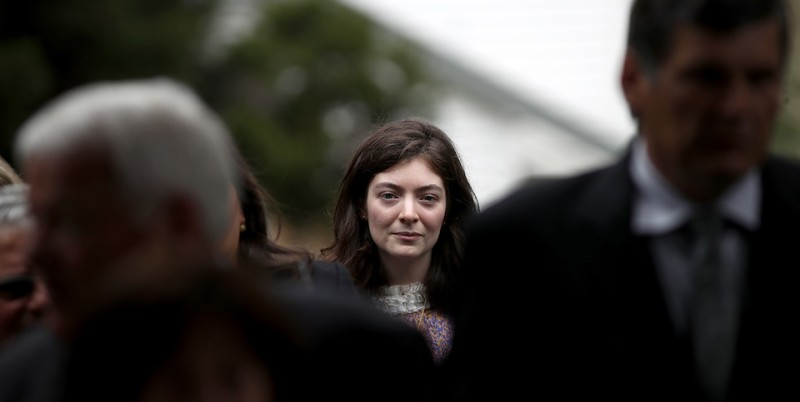 AUCKLAND, NEW ZEALAND - AUGUST 19:  Singer and songwriter Lorde at a state luncheon for  Croatian President Kolinda Grabar-Kitarovicon at Government House August 19, 2017 in Auckland, New Zealand. President Kolinda Grabar-Kitarovic is on a four day visit to New Zealand.  (Photo by Phil Walter/Getty Images)