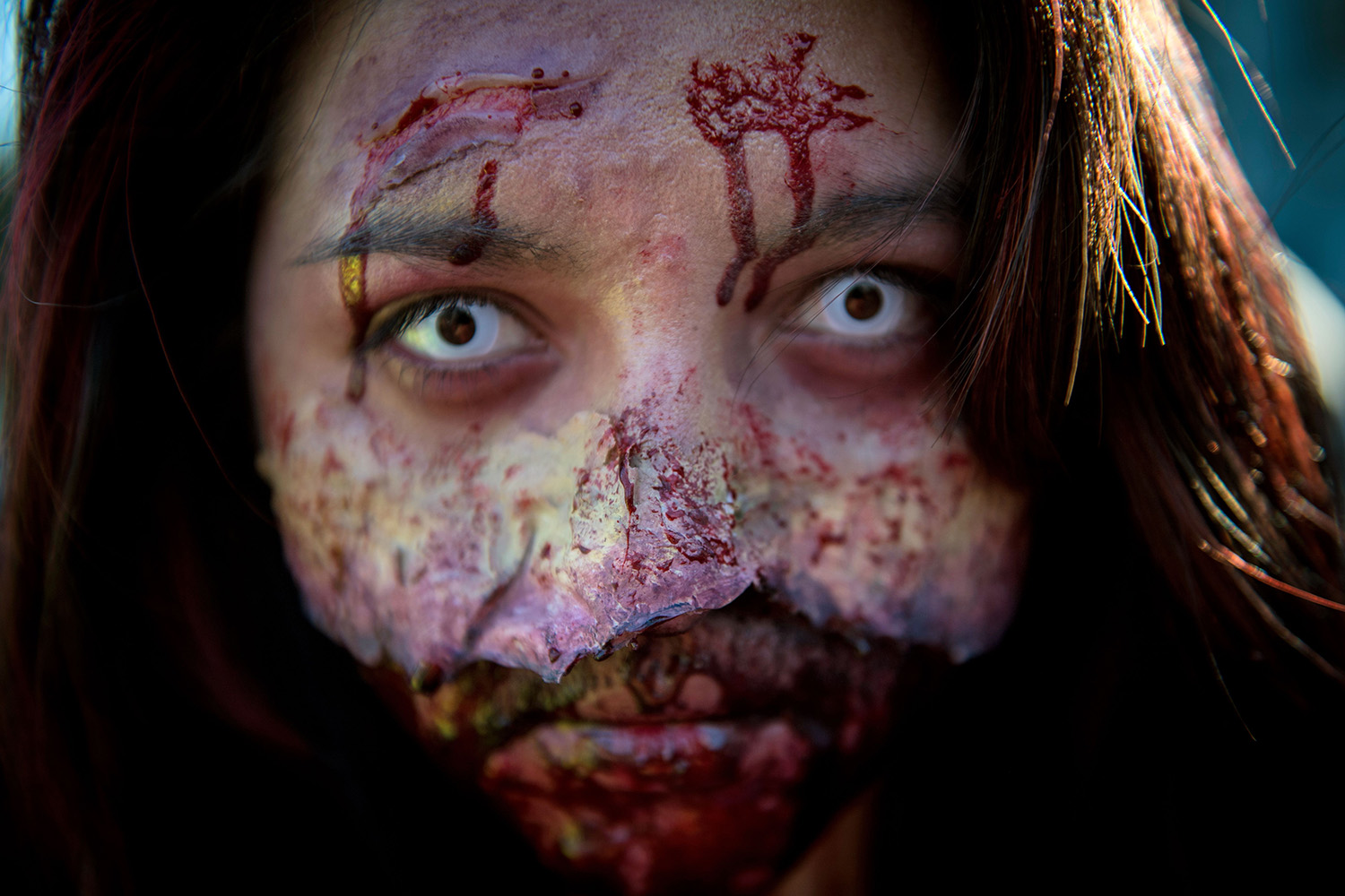 TOPSHOT - Chilean students take part in a parade within the upcoming Halloween celebration, in Santiago, on October 25, 2017. / AFP PHOTO / Martin BERNETTI        (Photo credit should read MARTIN BERNETTI/AFP/Getty Images)