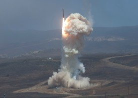 The Missile Defense Agency tests a Ground-Based Interceptor  at Vandenberg Air Force Base, Calif. on June 22, 2014. (U.S. Air Force)