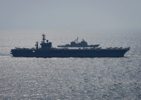 The USS Nimitz operates in the Arabian Gulf on Oct. 20. (U.S. Navy)