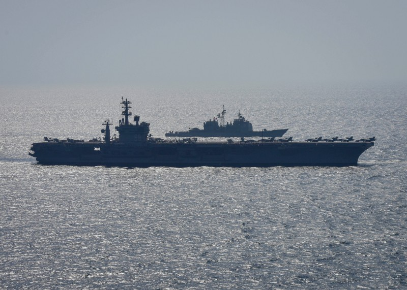 The USS Nimitz operates in the Arabian Gulf on Oct. 20. (U.S. Navy)