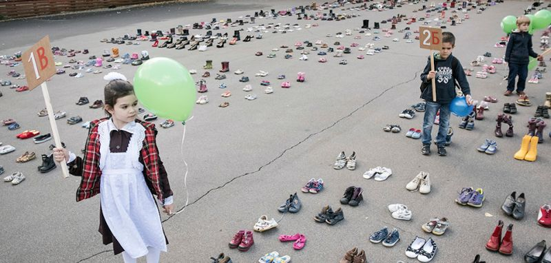 "The ""For Life"" anti-abortion demonstration in Moscow's Sokolniki park on Sept. 14. (Joel van Houdt for Foreign Policy)"