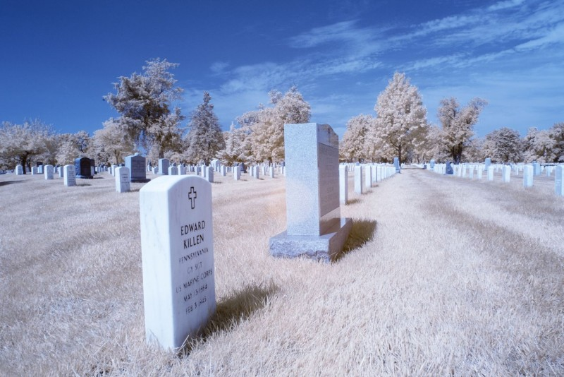 Headstones are seen at Arlington Cemetery in Arlington, Virginia on Sept. 21. (Andrew Caballero-Reynolds/AFP/Getty Images)