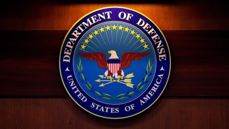 A plaque of the Department of Defense seal is seen January 26, 2012 at the Pentagon in Washington, DC. (MANDEL NGAN/AFP/Getty Images)