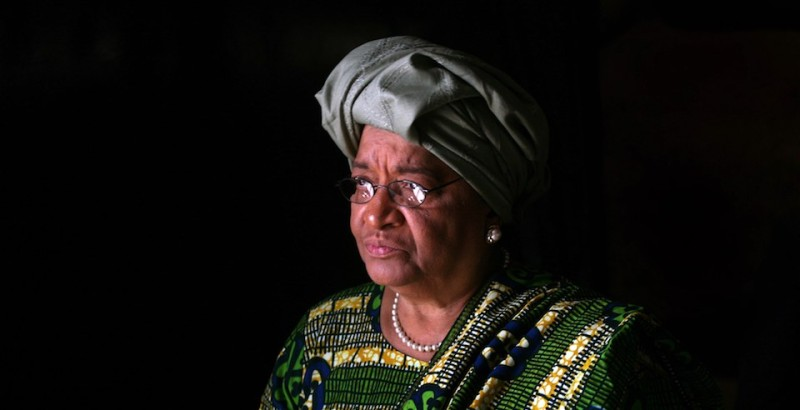 Liberian President Ellen Johnson-Sirleaf visits the Hall of Remembrance at the Yad Vashem Holocaust museum in Jerusalem, 19 November 2007. Johnson-Sirleaf is on an official visit to Israel. AFP PHOTO/MENAHEM KAHANA        (Photo credit should read MENAHEM KAHANA/AFP/Getty Images)