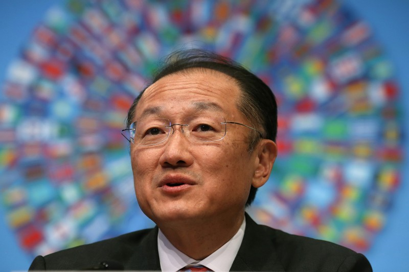 World Bank Group President Jim Yong Kim speaks during a media briefing at IMF headquarters on April 10, 2014 in Washington, D.C. (Mark Wilson/Getty Images)