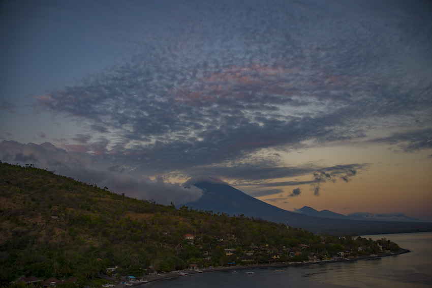 Mount Agung volcano on Bali island on October 3, 2017. BAY ISMOYO/AFP/Getty Images