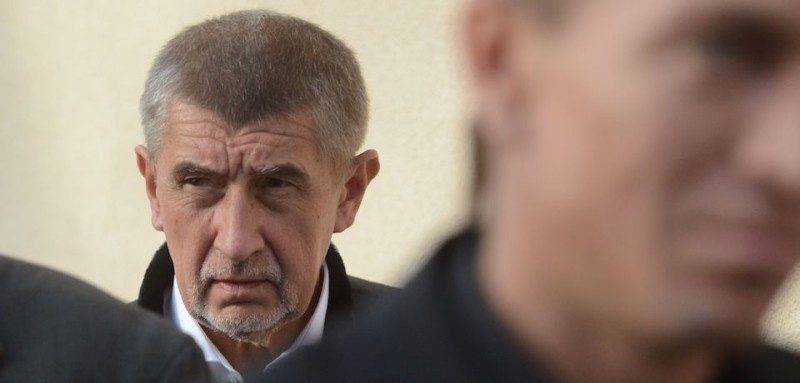 Andrej Babis near Prague on Oct. 04, 2017. (Michal Cizek/AFP/Getty Images)