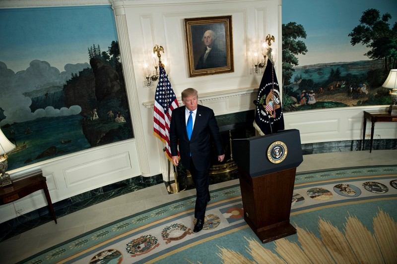 President Donald Trump in the Oval Office on Oct. 13. (Brendan Smialowski/AFP/Getty Images)