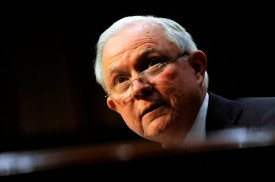 Attorney General Jeff Sessions testifies before a Senate Judiciary Committee hearing on Oct. 18. (Jason Connolly/AFP/Getty Images)