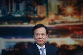 Chongqing Communist Party Secretary Chen Miner attends the 19th Party Congress in Beijing on Oct. 19. (Lintao Zhang/Getty Images)