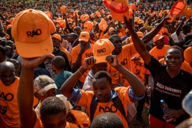 Opposition supporters rally for presidential candidate Raila Odinga in Nairobi's Uhuru Park on Oct. 25. (Andrew Renneisen/Getty Images)