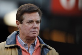 Former Trump presidential campaign manager Paul Manafort at Game Four of the American League Championship Series at Yankee Stadium on Oct. 17, 2017. (Elsa/Getty Images)