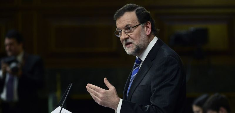 Spanish Prime Minister Mariano Rajoy on February 24, 2015. (PIERRE-PHILIPPE MARCOU/AFP/Getty Images)