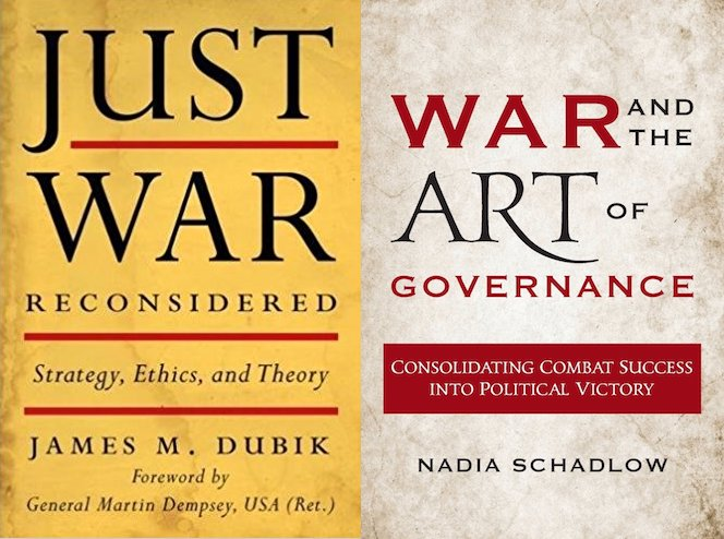 Covers of Just War Reconsidered and War and the Art of Governance (University Press of Kentucky/Georgetown University Press)