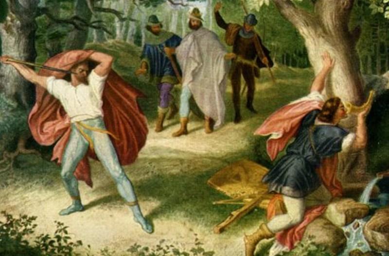 Siegfried's Death, by Julius Schnorr von Carolsfeld. (Wikimedia Commons)