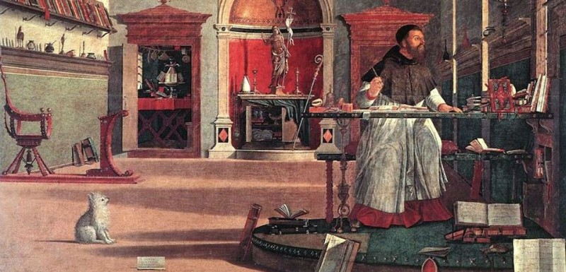 St. Augustine in His Study by the Italian Renaissance artist Vittore Carpaccio. (Wikimedia Commons)