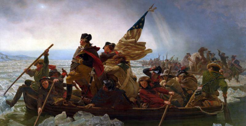 "Emanuel Gottlieb Leutze's ""Washington Crossing the Delaware"" (Metropolitan Museum of Art, New York)"